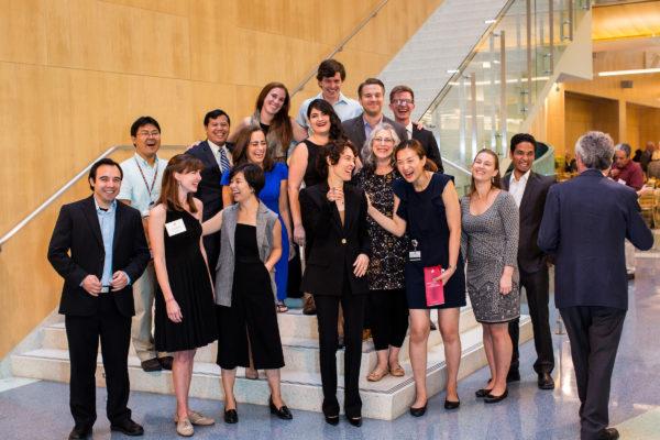 lab members celebrating Dr. Elisseeff's Morton Goldberg Professorship